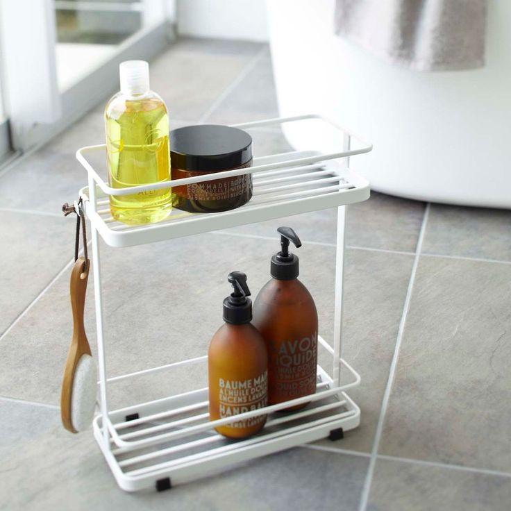 Tower / Black Bath Rack by Yamazaki Home