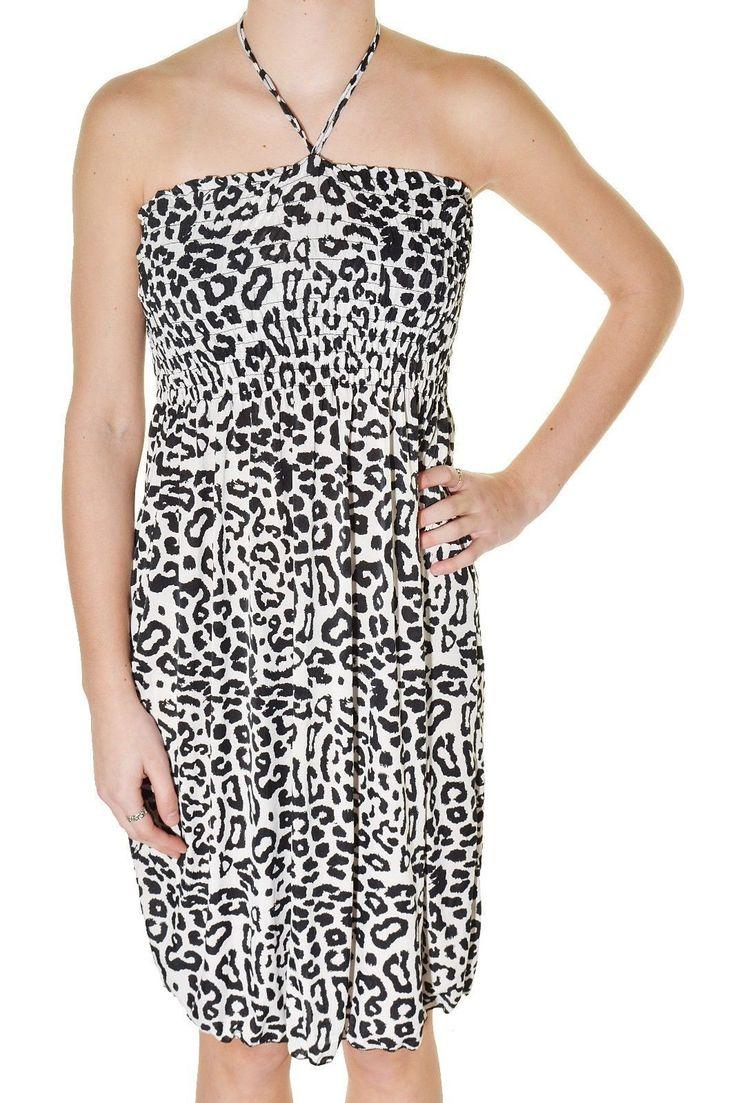 Wild Animal Print Beach Dress