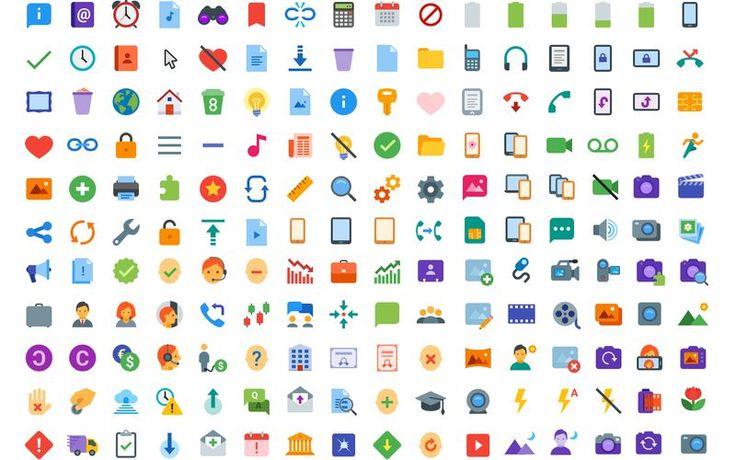 Icons8: pack con 312 bonitos iconos planos de uso gratuito