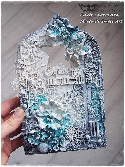 mixed media tag art by Marta Lapkowska via Marjie Kemper's Tuesday's Tutorials Blog Series, Week 28