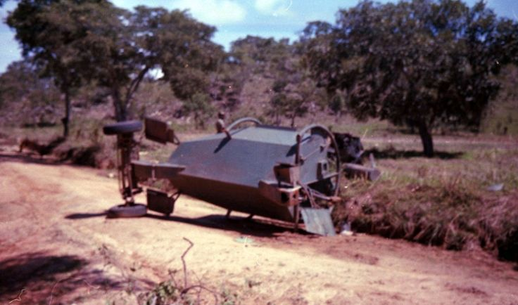Rhodesian Leopard after hitting a land mine.