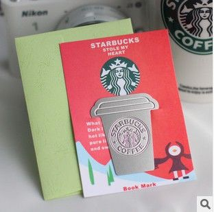 Creative Starbucks Metal Bookmarks Collector's Edition Bookmark For Books Mark Clips Office Teacher Gift Kids School Supplies
