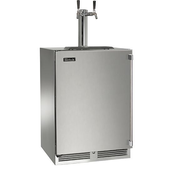 "#Perlick 24"" #Beer Dispenser - Enjoy two of your favorite beers on tap at home! #CraftBeer #Appliances #InteriorDesign"