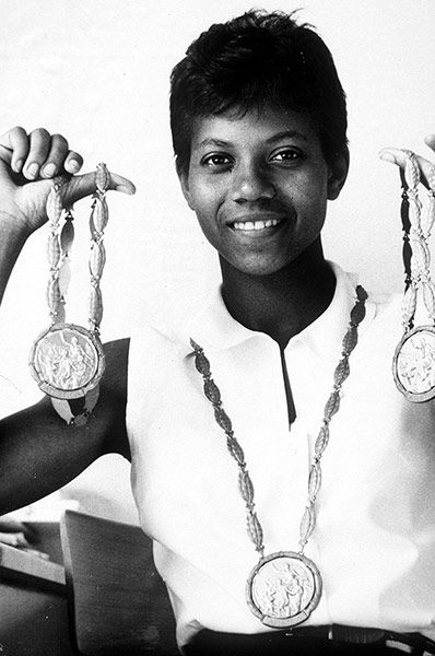 Wilma Rudolph was the first American woman to win three gold medals at one Olympics.  She won global fame as the fastest woman in the world. Just two years later, she retired, her legacy having been written. She died in 1994 at the age of 54.