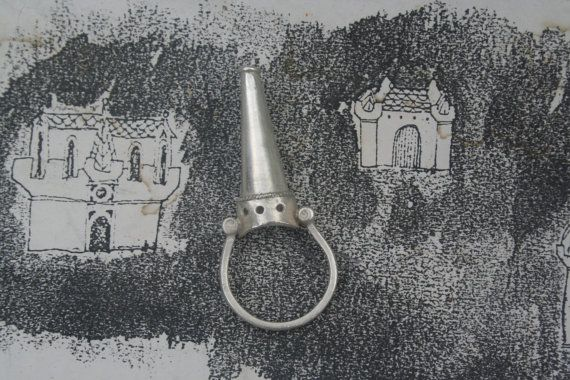 Castle ring medieval castle ring Gothic Revival jewelry