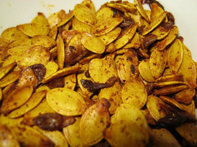Roasted spaghetti squash seeds- tried and loved!