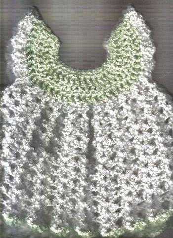 Free Crochet Angel Wing Newborn Pinafore Pattern.