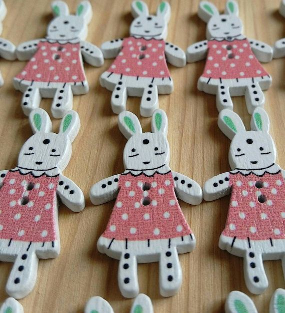 Check out this item in my Etsy shop https://www.etsy.com/uk/listing/264200978/6-x-pretty-pink-wooden-bunny-buttons
