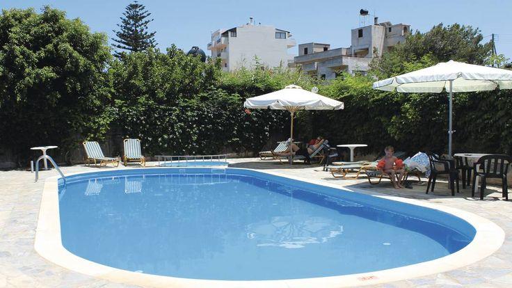 £434 - Sun Boutique Hotel, Heraklion Crete  Small hotel, smallish pool, ok rooms, nice social areas, 200m from beach