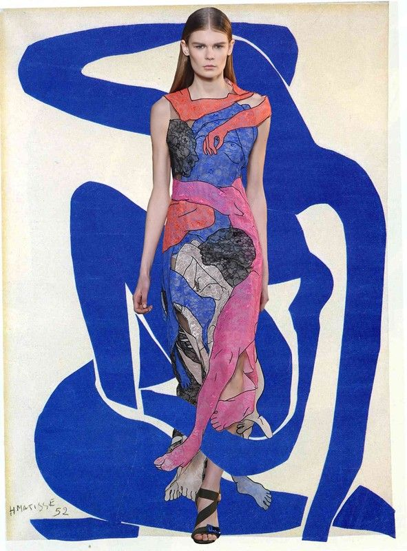 Christopher Kane A/W15 x Henri Matisse. Collage by Christos Mouchas.