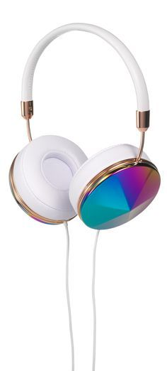 #FRENDS Headphones - our Taylor style in Oil Slick, with White Leather and Rose Gold accents. Perfect for summer wardrobes :) Available with *FREE* US shipping. Shop now at: wearefrends.com ♥