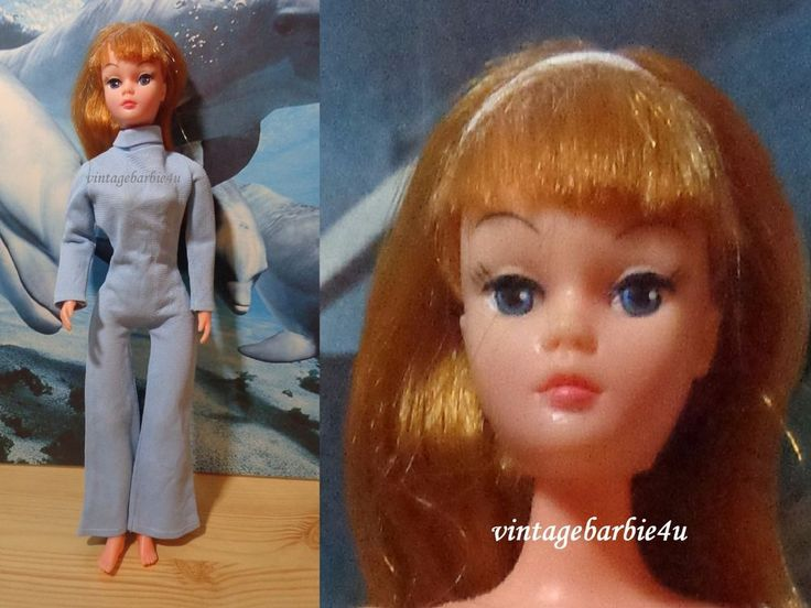 Vintage Uneeda Doll Dollikin Titan Red in Original Blue Jumpsuit Barbie LAL #DollswithClothingAccessories