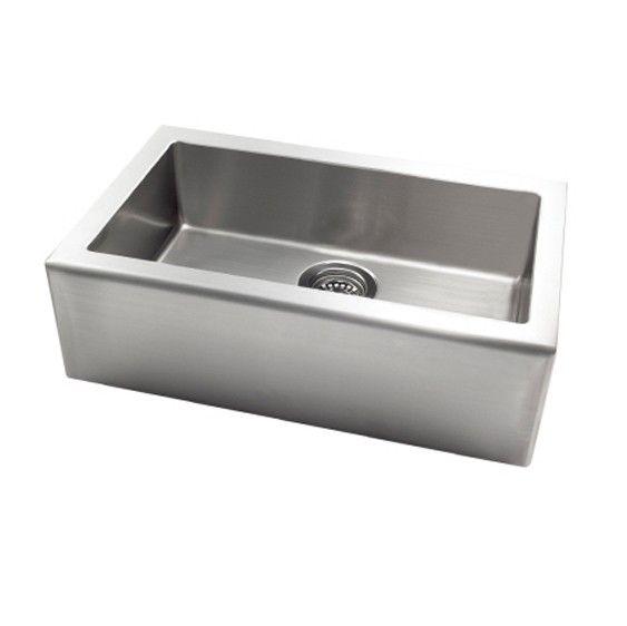 AstraCast AP10LXUSUM Stainless Steel Apron Front Undermount Single Bowl Kitchen Sink | PlumbingDepot.com