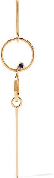Sarah & Sebastian - Long Bubble 14-karat Gold Sapphire Earring - One size