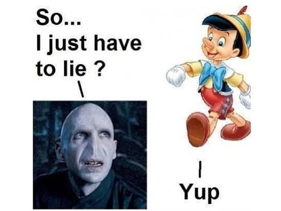 When Voldemort meets Pinocchio!