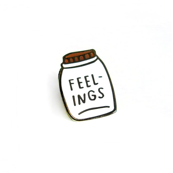"""FEELINGS"" Enamel Lapel Pin ($8)"