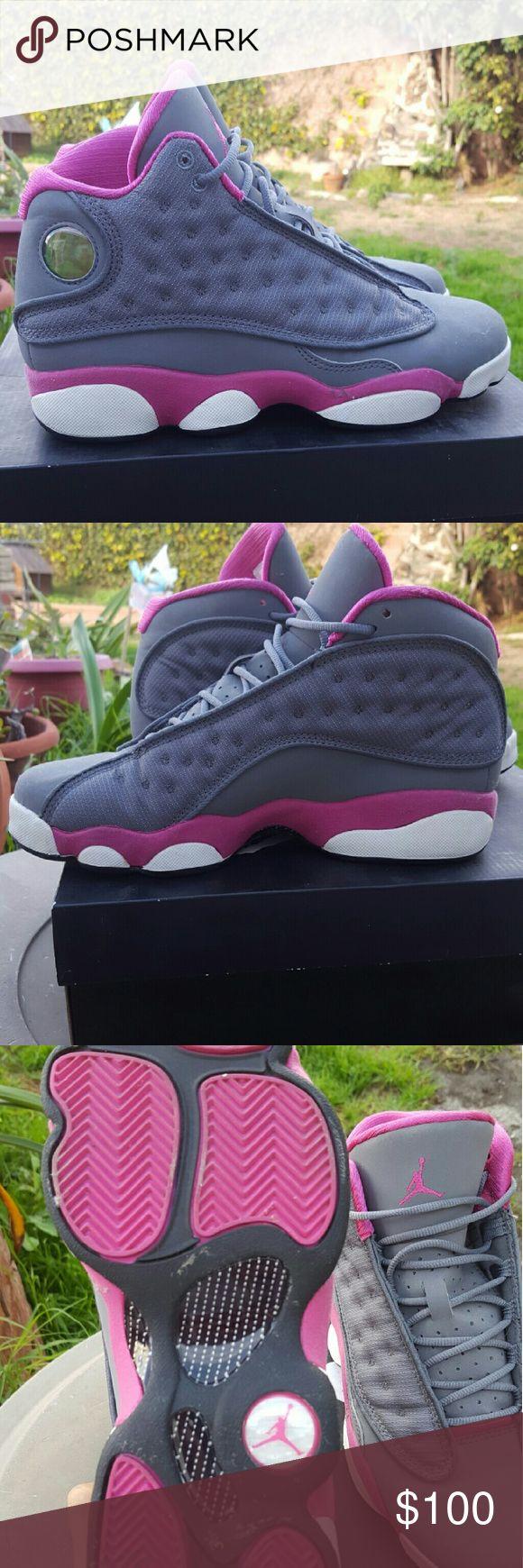 Jordan xiii 6.5 in women's pink and grey Women's Jordan's xiii brand  new, pink and grey Jordan Shoes Sneakers