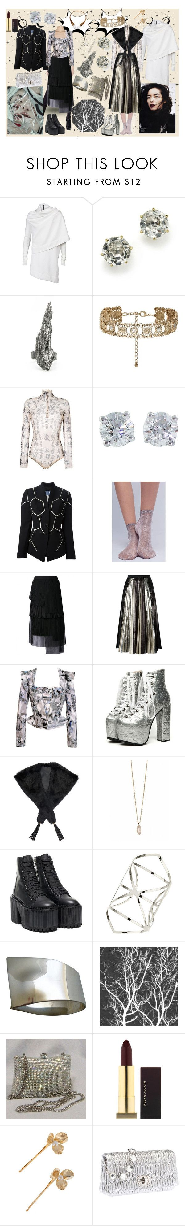 """dripping in crystals"" by ju-on ❤ liked on Polyvore featuring DRKSHDW, Ippolita, Alicia Hannah Naomi, New Look, Dsquared2, Tiffany & Co., Thierry Mugler, Hansel from Basel, Manish Arora and Proenza Schouler"