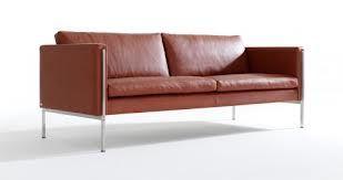 klassisk sofa brunt læder - Lædersofa Capri