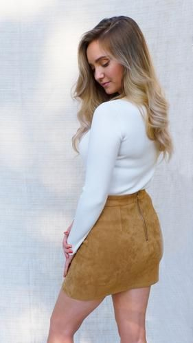 Soft Touch Skirt in Cognac