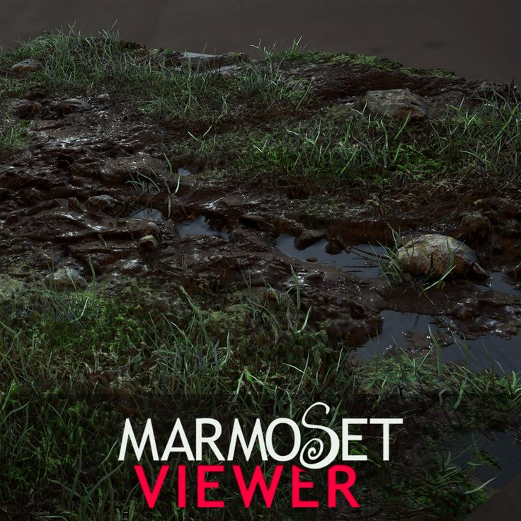 Grass, Mud, and Puddles (Marmoset), Jacob Norris on ArtStation at https://www.artstation.com/artwork/grass-mud-and-puddles-marmoset