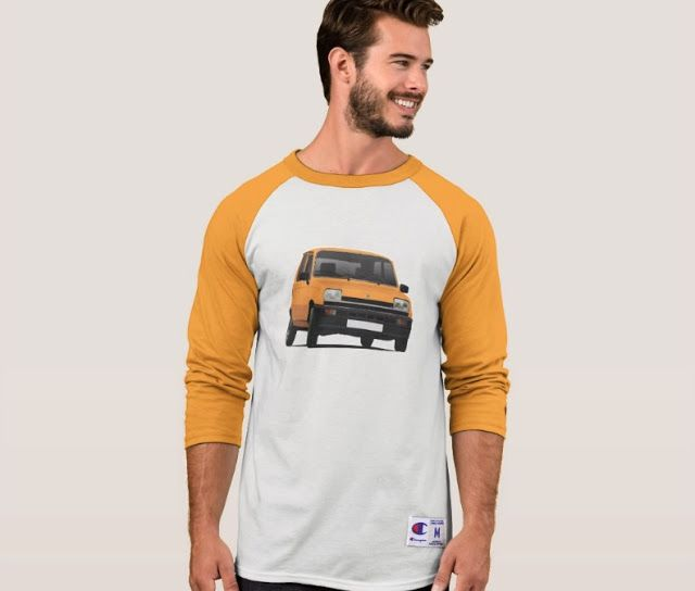 Renault 5 first generation shirt.  #renault #renault5 #renaultr5 #automobile #france #french #shirt #orange #classiccars #illustration #carillustration #knappi