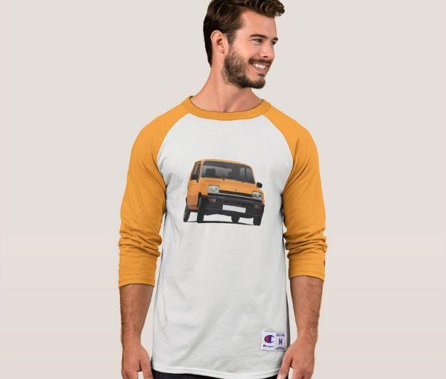 Renault 5 first generation shirt.  #renault #renault5 #renaultr5 #automobile #france #french #shirt #orange #classiccars #illustration #carillustration #knappi
