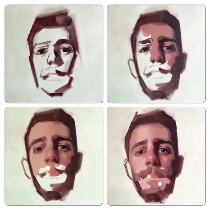 Step by step, oil on paper