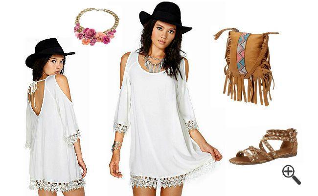 3Hippie Outfit Tipps die Luna sprachlos machten http://www.fancybeast.de/schoene-hippie-kleider-weiss-spitze-hippie-outfit-style/ #Hippie #Kleider #Dress #Outfit #Style #Weiß #Spitze #Sommerkleider Hippie Outfit Style Schöne Hippie Kleider Weiß Spitze