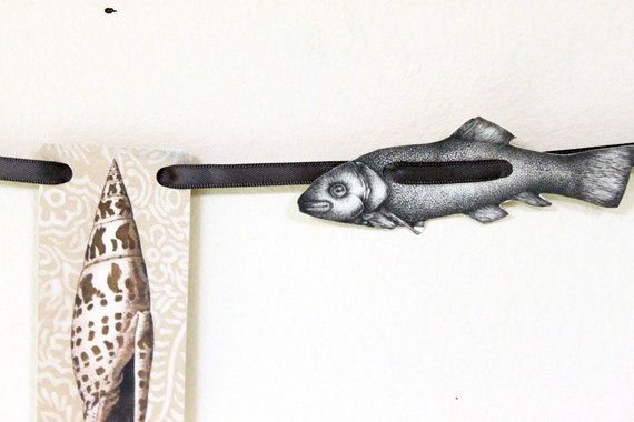 Fish  Paper Garland by archivioGotico on Etsy, €6.00