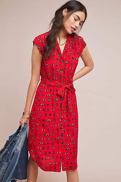 6bb08a3884f3 52 Conversations by Anthropologie Colloquial Short-Sleeved Shirtdress