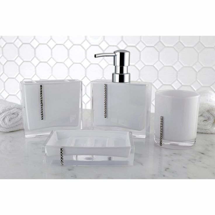 crystal bathroom accessories sets%0A Capitol  Piece Bathroom Accessory Set