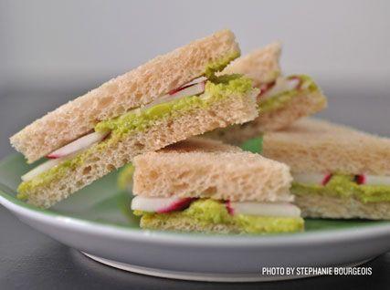 Radish and Fava Bean Tea Sandwiches