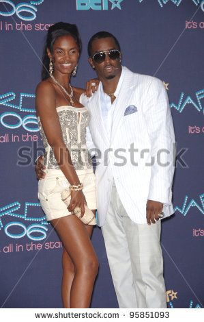 Diddy Wife | SEAN P. DIDDY COMBS & wife KIM at the 2006 BET Awards in Los Angeles ...