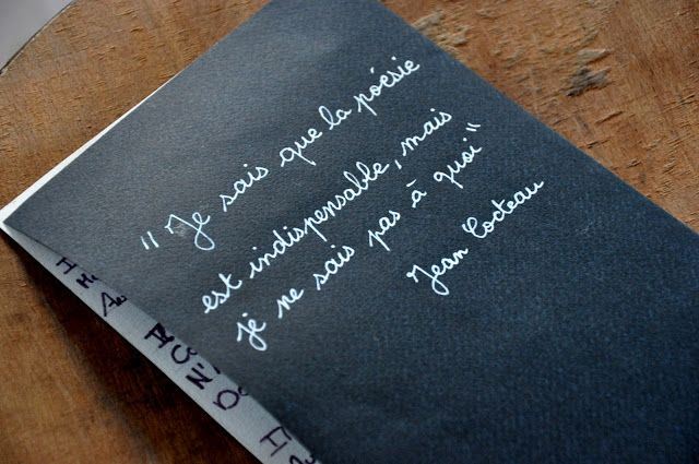 ENG.I know that the poetry is essential, but I don't know what for-Jean Cocteau