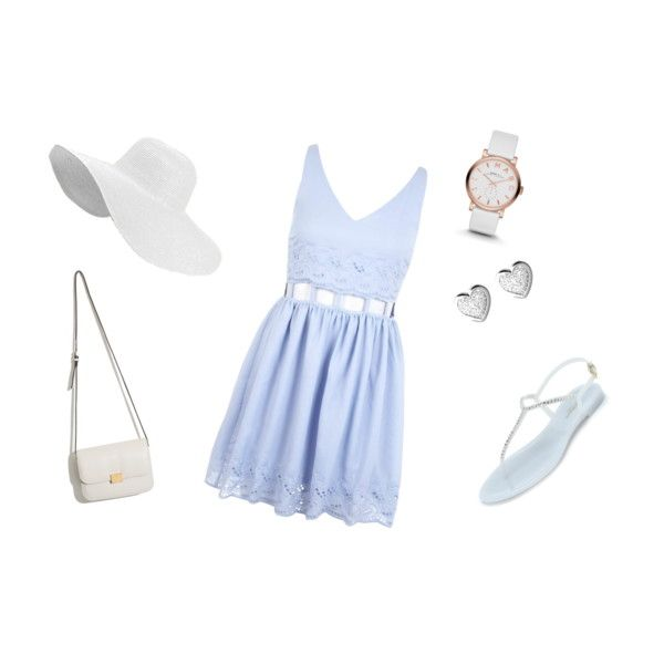 Cute outfit for summer by sostudd on Polyvore featuring Miss Selfridge, L.K.Bennett, Marc by Marc Jacobs and Links of London