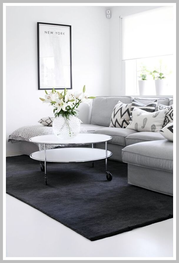 64 Reference Of Light Grey Couch Dark Grey Rug In 2020 Grey Couch Living Room Grey Dining Room Living Room Grey