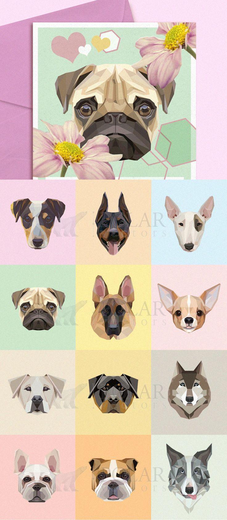Dog-breeds-portraits-vector-illustration-set.jpg (JPEG Image, 800 × 1827 pixels) - Scaled (51%)