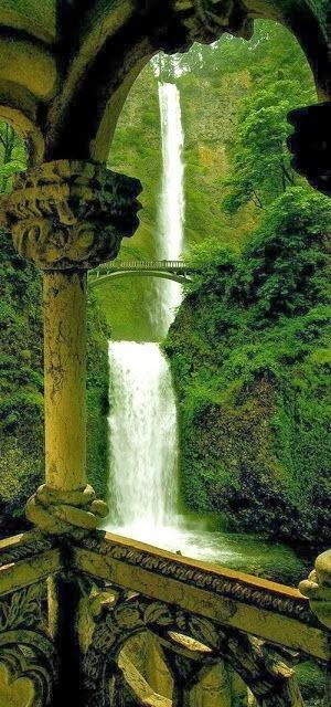 Double Falls,Multnomah Falls , Oregon, USA - Favorite Photoz