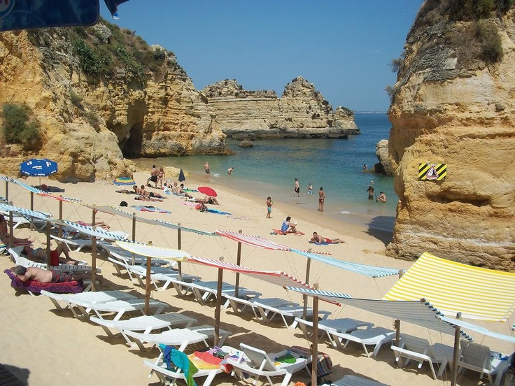 View from beach bar in Lagos, Portugal.