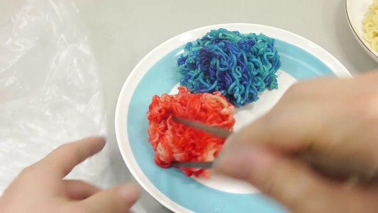컬러 라면 스파게티 만들기 포핀쿠킨 가루쿡 요리놀이 장난감 소꿉놀이 How To Make Color Ramen Spaghetti ...