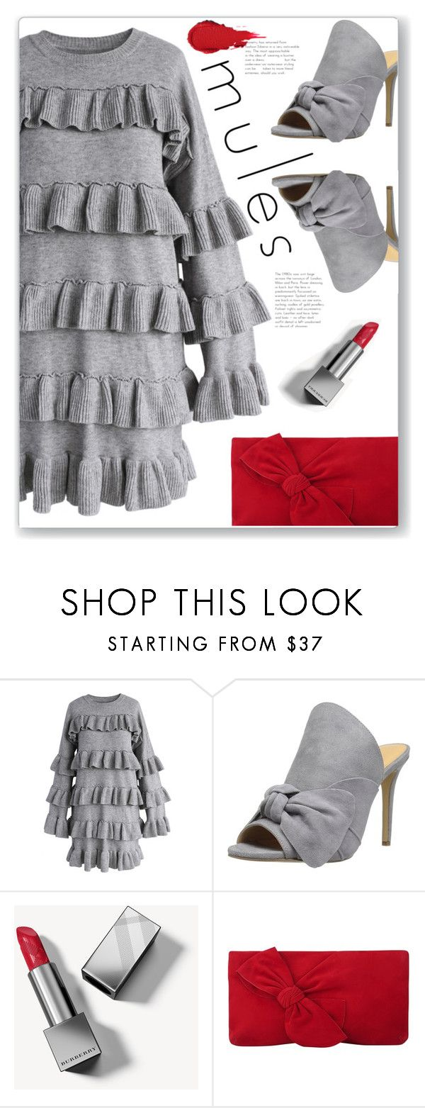 """""""Slip 'Em On: Mules"""" by polivorka-polivorochka ❤ liked on Polyvore featuring Chicwish, Daya, Burberry, L.K.Bennett and mules"""
