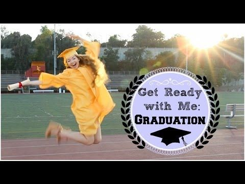Getting Ready | Graduation Hair, Makeup, & Outfit! - YouTube