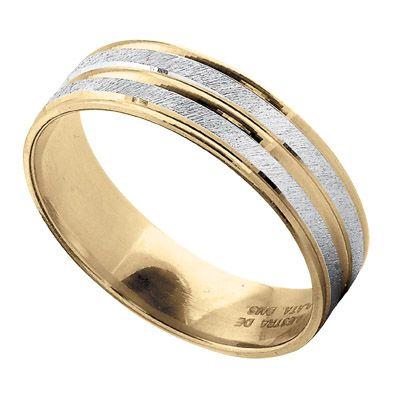 Argolla oro amarillo y blanco 14k  Precio boutique $4,100.00 Precio tienda online $3,895.00
