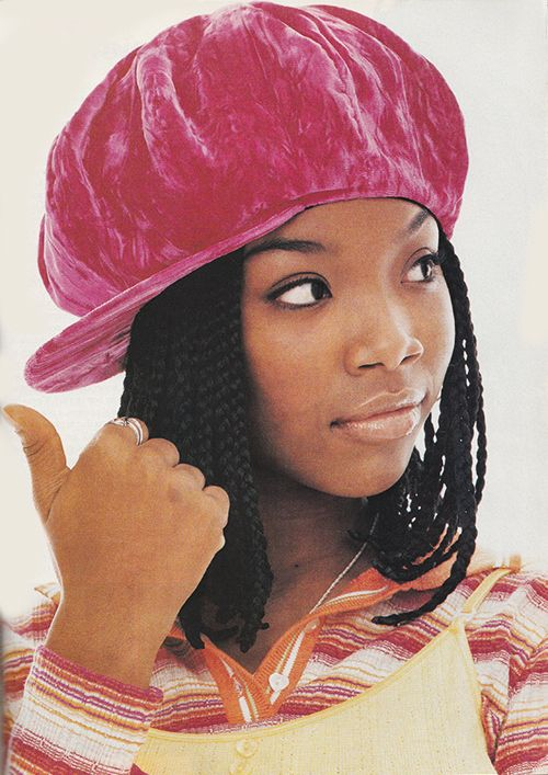 "April 1995. """"Brandy braids"" take eight hours to create'"