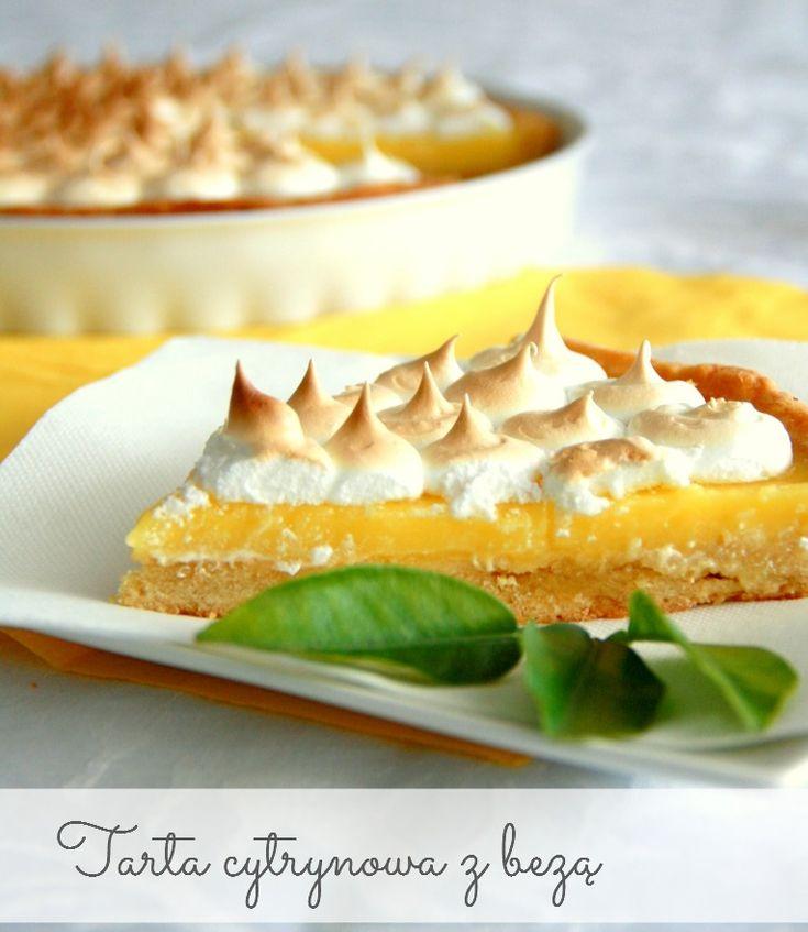 Najlepsza na świecie francuska tarta cytrynowa z bezą (tarte au citron meringuée). Lemon curd meringue pie.