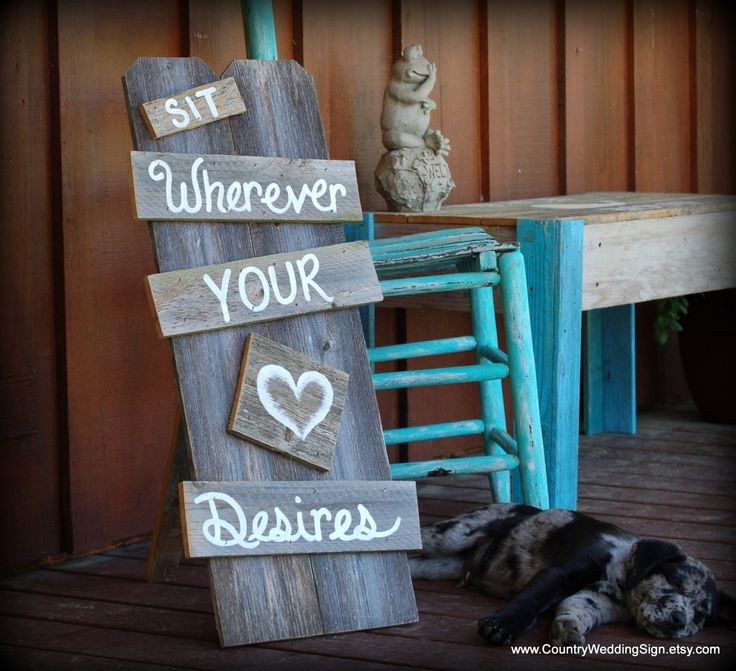 No Seating Plan Wedding Sign Sit Wherever by CountryWeddingSign, $75.00