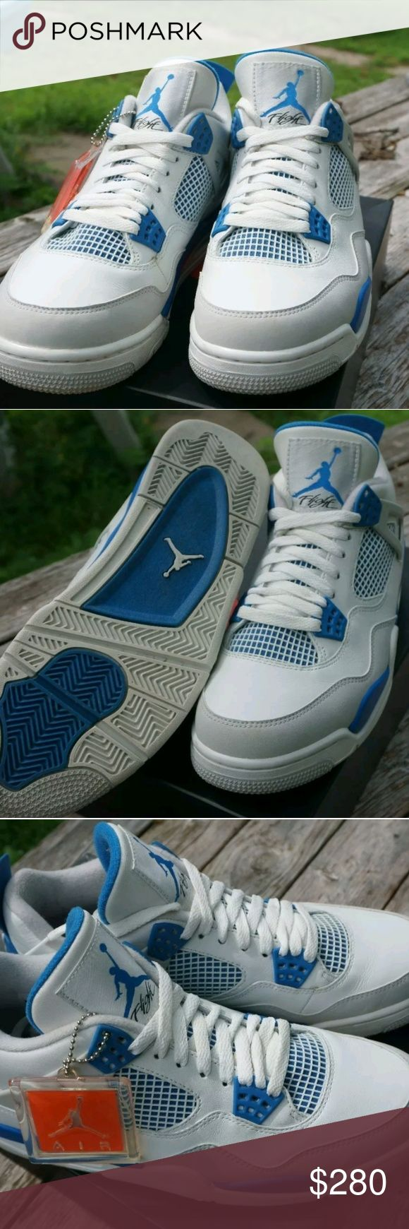 Air Jordan Retro 4 Military Blue VNDS + FREE SHIRT VNDS military 4s comes with matching custom tee Jordan Shoes Sneakers