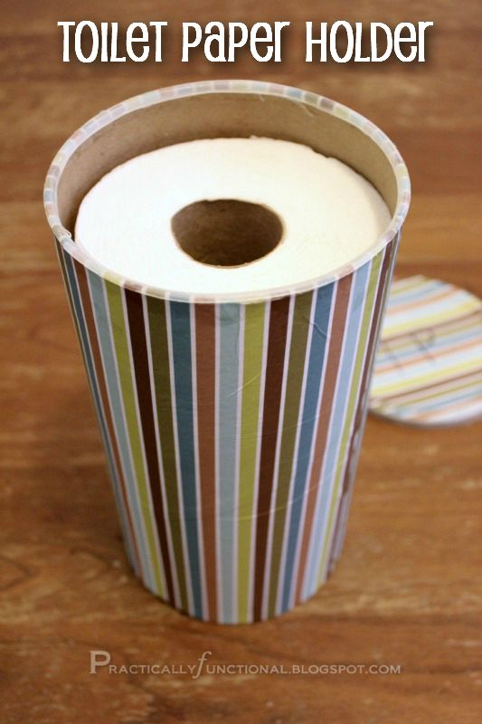 Upcycle: Oatmeal Canister To Toilet Paper Holder! || Practically Functional