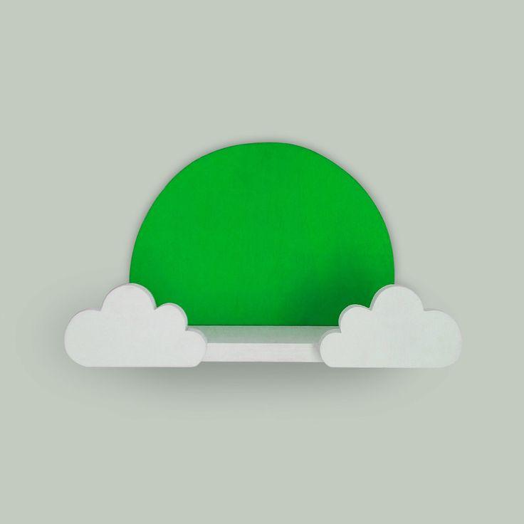 Yeşil Bebek Odası Rafları